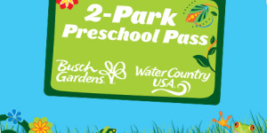 Pre-Schoolers can go Free to Busch Gardens and Water Country! Get the Pre-School Pass for the 2017 Season!