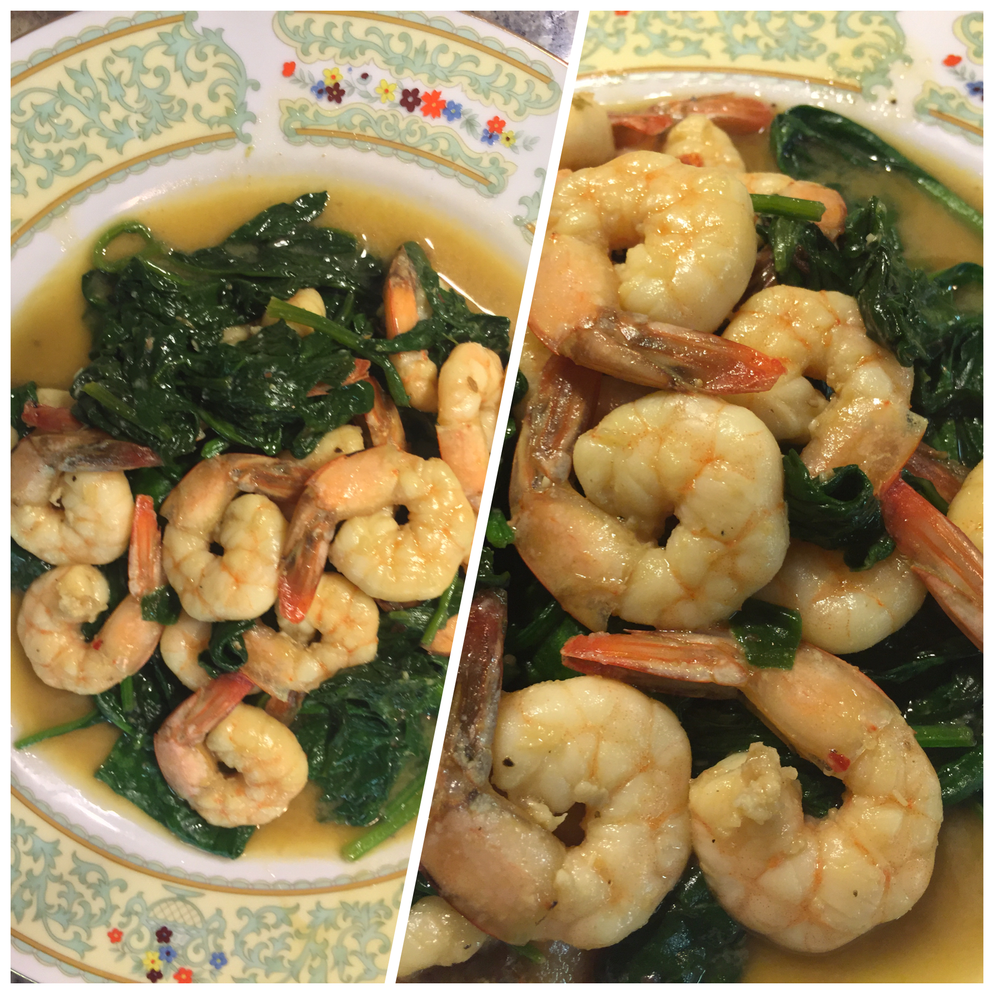 Want a Restaurant Quality Meal For Dinner Tonight? Make This Ginger Garlic Shrimp and Spinach! #icancook #glutenfree