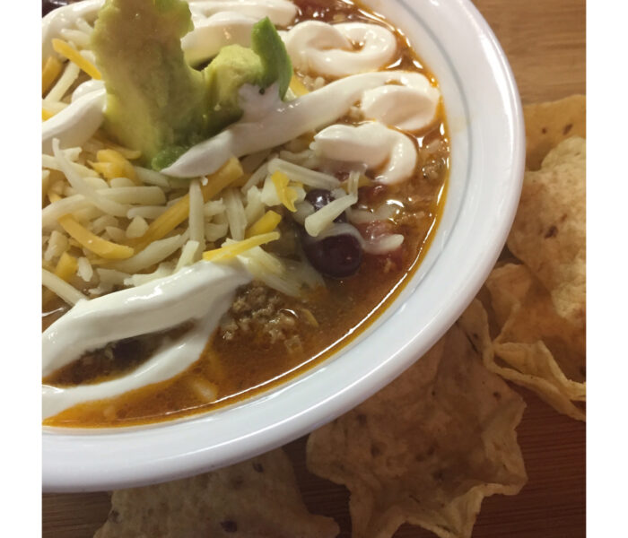 Make this Easy Taco Soup For Your Next Game Day Party!