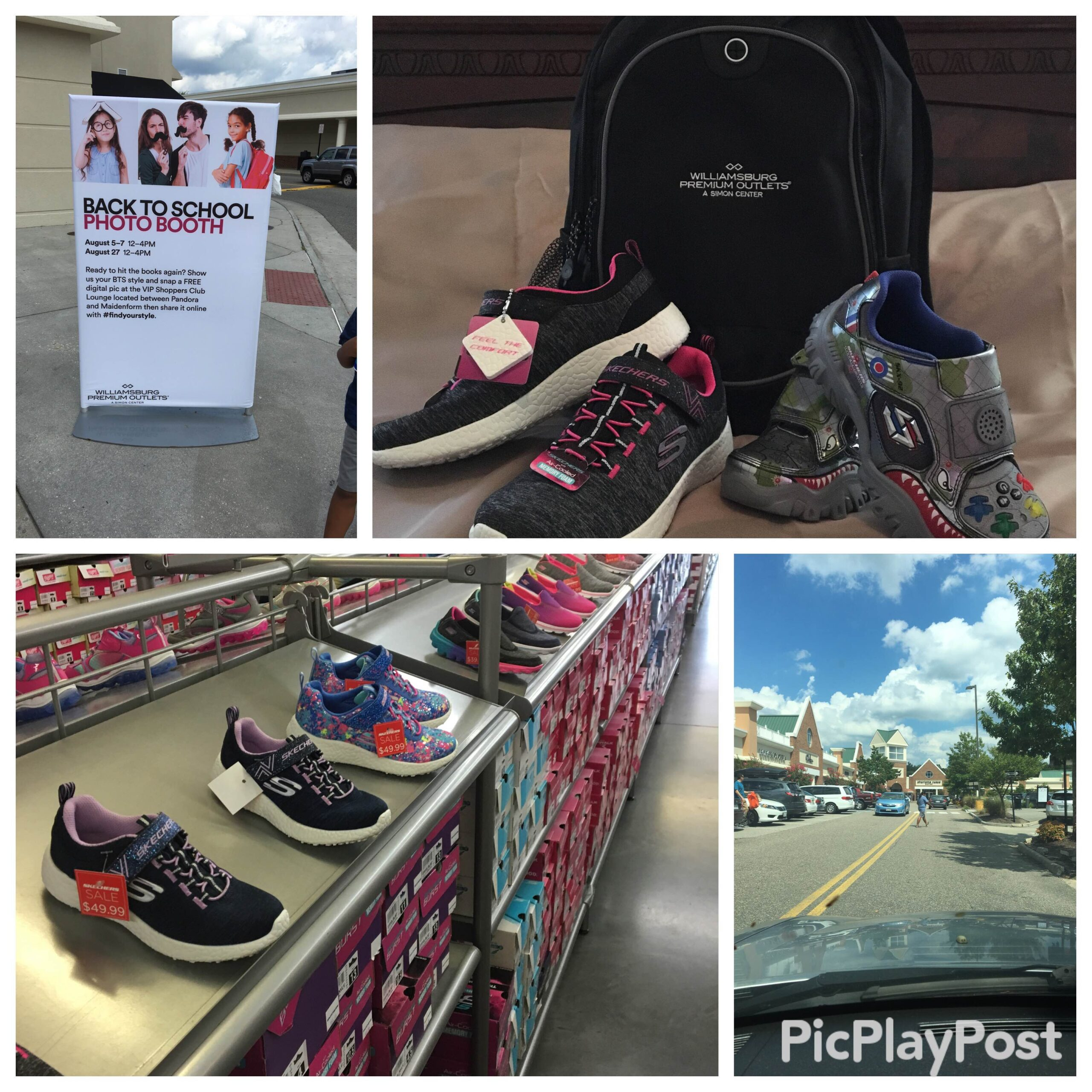 Back To School Shopping Event and Savings with The Williamsburg Premium Outlet!!! #findyourstyle #backtoschool