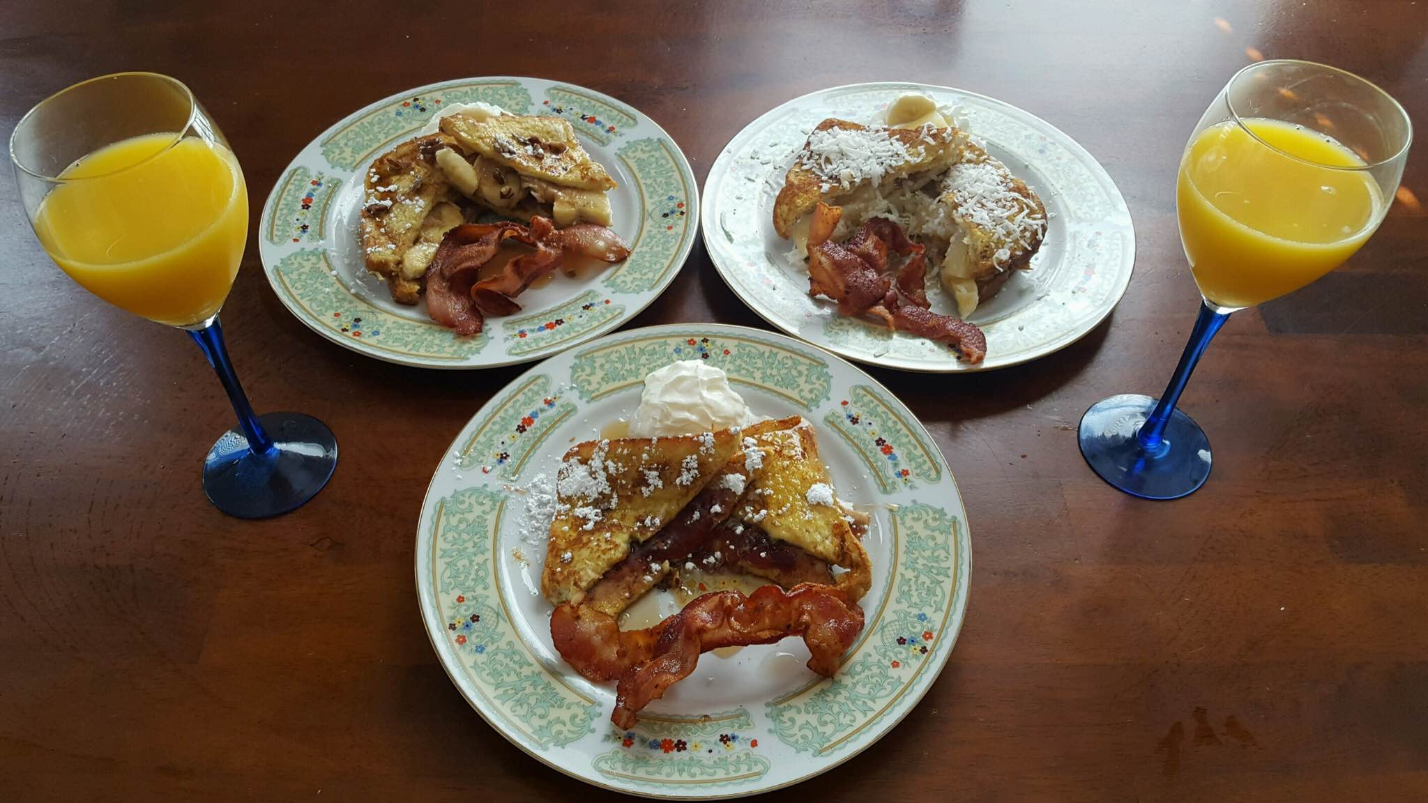 Never Get Bored with Breakfast Ever Again! Try three different stuffed French toast varieties that will have you want breakfast all the time anytime?